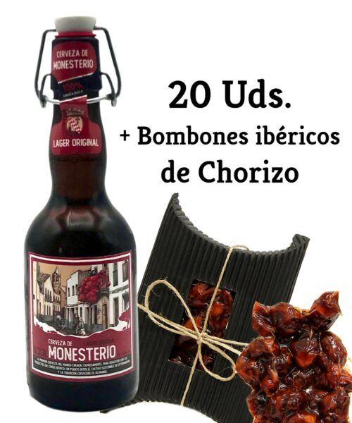 LAGER ORIGINAL 20 Uds + Bombones ibéricos de Chorizo
