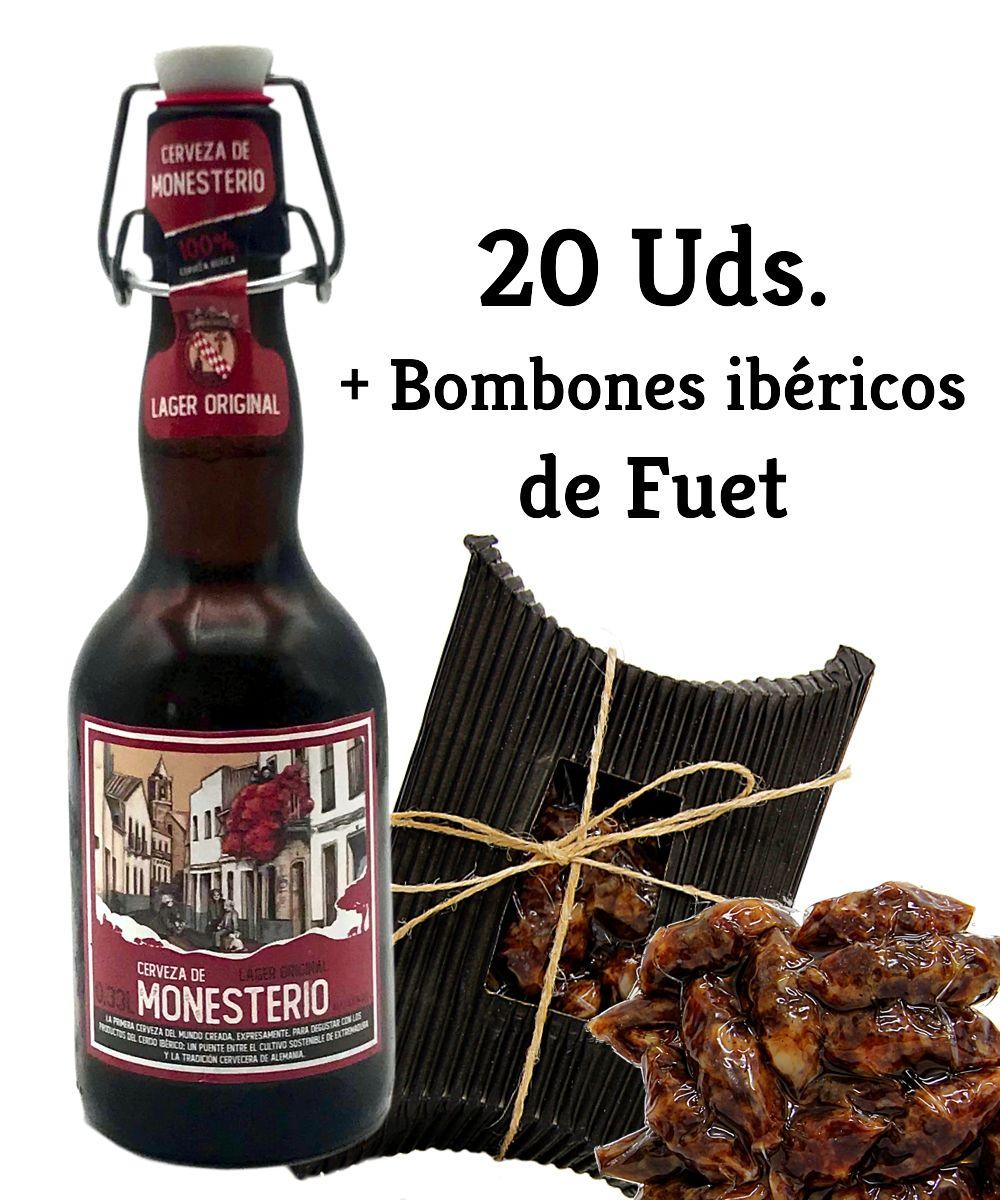 LAGER ORIGINAL 20 Uds + Bombones ibéricos de Fuet