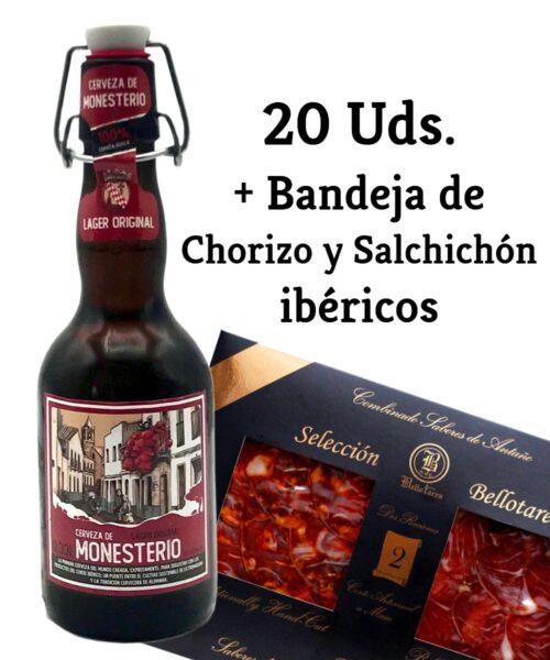 LAGER ORIGINAL 20 Uds + Chorizo y Salchichón